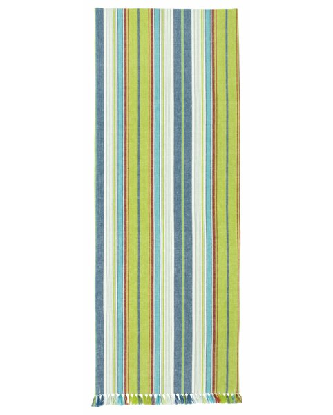 Geren 100% Cotton Striped Table Runner (Set of 2) by Bayou Breeze